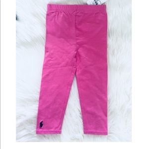 Ralph Lauren Toddler Girls Pink Leggings 24M NWT